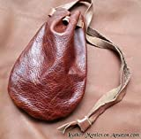 Leather Pouch Coin Dice Bag BROWN - Made in USA