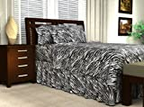 zebra sheet set twin - Sweet Dreams Silky Satin Sheet Set - Twin - Black Zebra Print, Wrinkle Free and Stain Resistant Super Soft Luxury Satin Bed Sheets and Pillowcase Set with Extra Deep Pockets