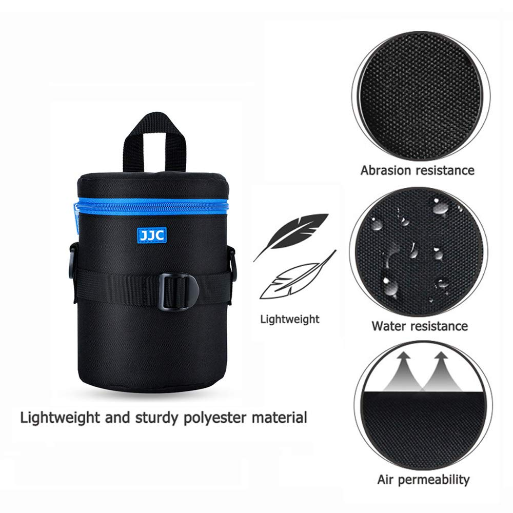 """DSLR Camera Lens Pouch JJC Lens Bag Case for Canon 28-200mm 17-55mm 17-85mm 35mm Nikon 55-200mm 18-105mm 18-200mm Tamron 18-270mm any other Lens with 3.15*5.98/"""""""