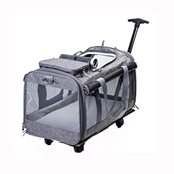 Amazon.com: Jzmzt - Carro de mascota desmontable, bolsa para ...