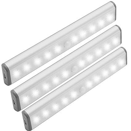 TLBBA Barras LED Para Armario de Luz Apoyo Sensor de Movimiento Inalámbrica con Luz con Adsorción