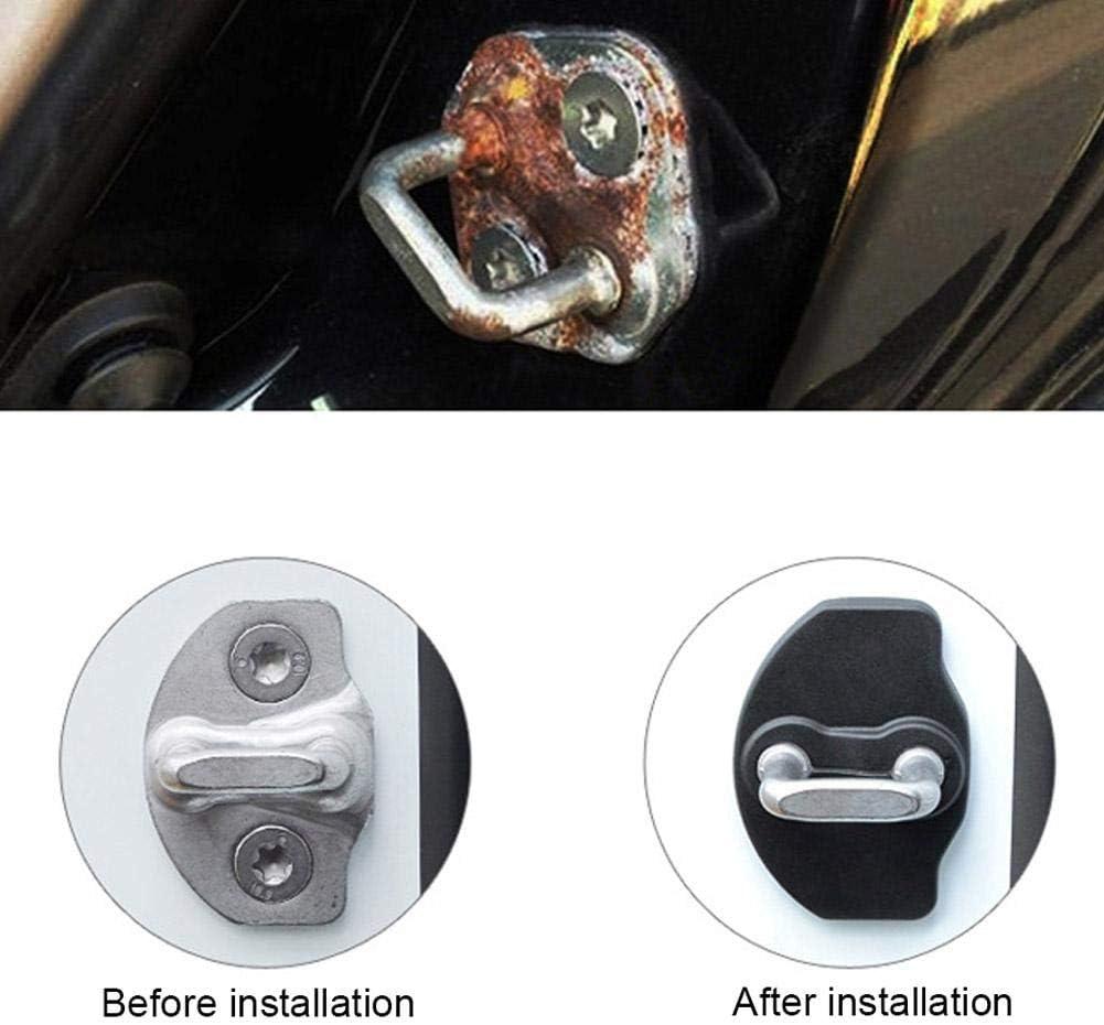 Hemistin pour Tesla 3-Door Lock Cover Model3 But/ée de Porte Cover Protection Cover Dust-Preuve Anti-Rouille Cover Accessoires Serrure De Porte Loquet Protection Cover High Grade