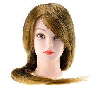 22 Friseur übungskopf 30 Echthaar Blonde Haare Lange Haare