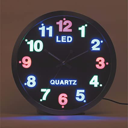 SSBY Reloj de pared silencioso negro Segundos barrido salón creativa digital Relojes luminosos