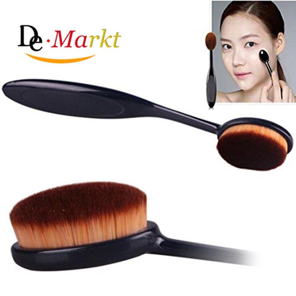 Demarkt Kosmetik Make-up Gesicht Seitig Powder Rouge-zahnbürste Pinsel Grundierung Werkzeug Bürste