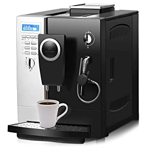 COSTWAY Super Automatic Espresso Machine, 19 Bar Pump, Built-In Milk Frother & steamer, All-In-One Espresso Machine, Stainless Steel Removable Water Tank and Drip Tray, Frothing for Cappuccino and Latte, Barista Touch Coffee Machine (Silver+ Black)