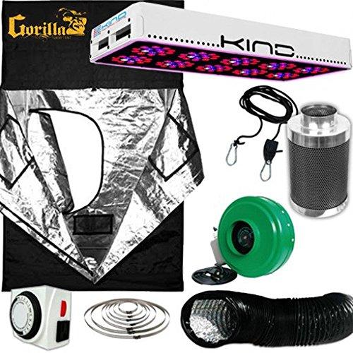 Kind LED L600 Gorilla Grow Room Package - 4 X 4