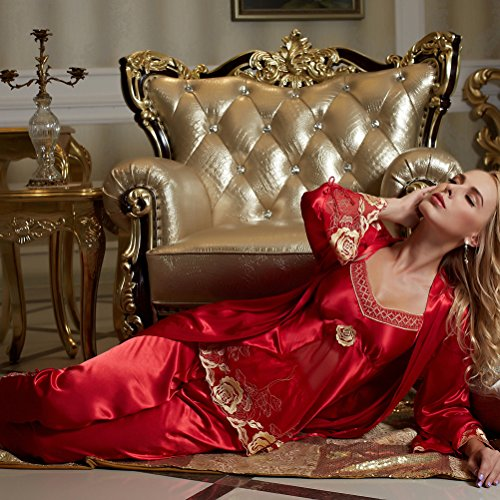 Amybria - Pijama - para mujer Rojo