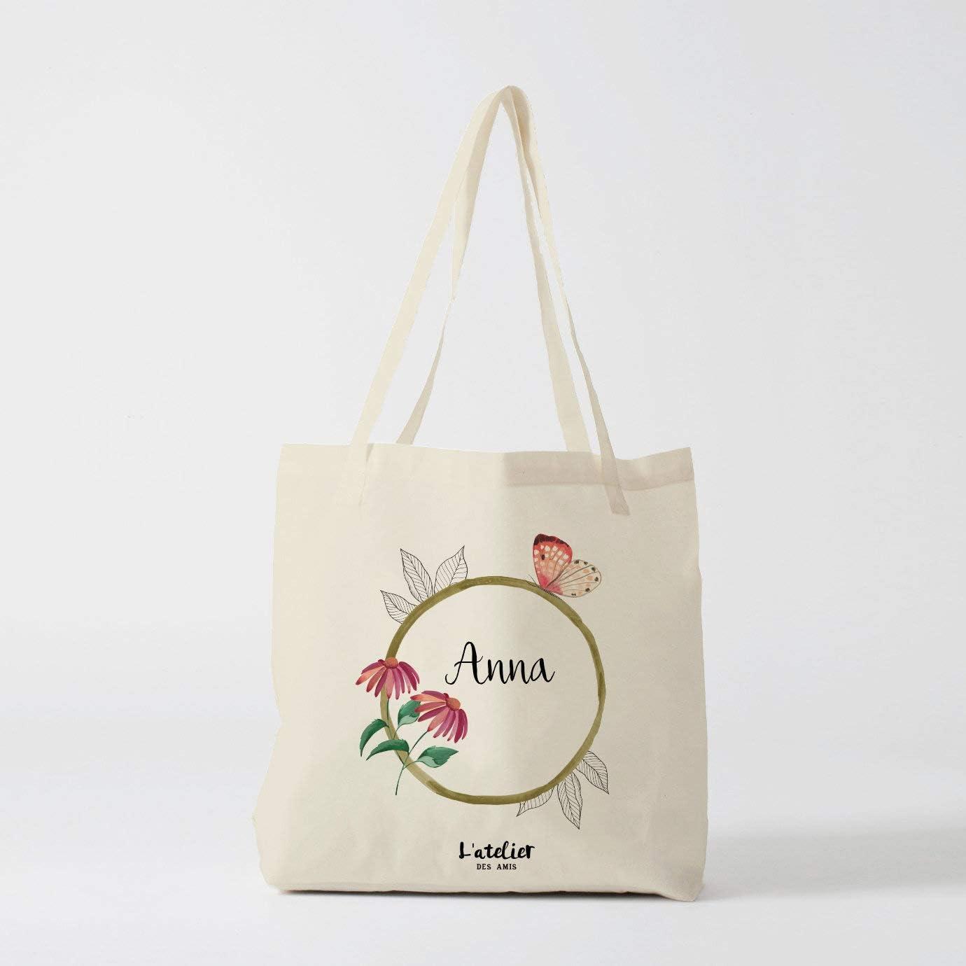Bolso Tote Bag personalizado con flores bolsa de algodón bolsa de ...