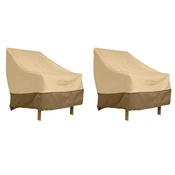 Great Classic Accessories 70912 2PK Veranda Patio Lounge Chair Cover, Large  (2 Pack