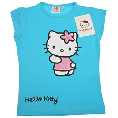 Hello Kitty Shirt Girlie Pink Blue Or Pink Blue 4 Years Amazon