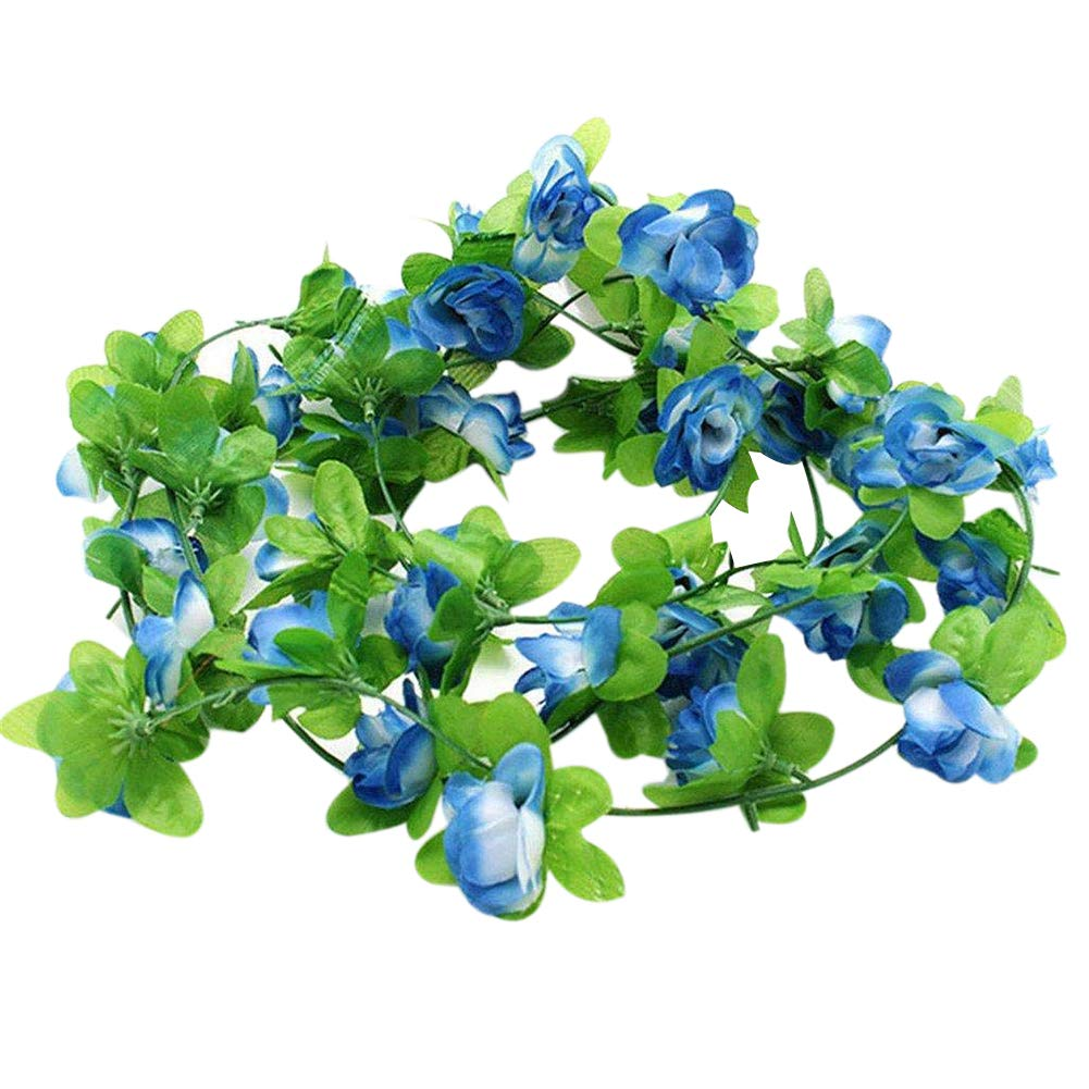 LAAT LAA Artificial Rose Vine Artificial Vines Faux Hanging Flower Fake Hanging Plants Ivy Artificial Flowers Fake Tree Plants Artificial Plants Artificial Plastic Flower for Wedding Party Decoration
