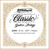 D\'Addario J3101 Rectified Classical Guitar Single String, Hard Tension, First String