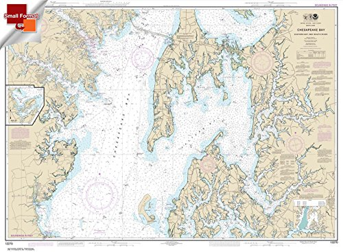 Paradise Cay Publications NOAA Chart 12270: Chesapeake Bay Eastern Bay and South River; Selby Bay 21.00 x 28.57 (SMALL FORMAT WATERPROOF)