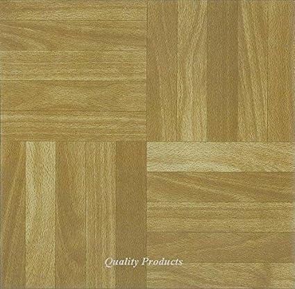Piastrelle da pavimento in vinile, autoadesive, per cucina/bagno, adesive,  quadrate, motivo: effetto legno (2573) - 44 pezzi