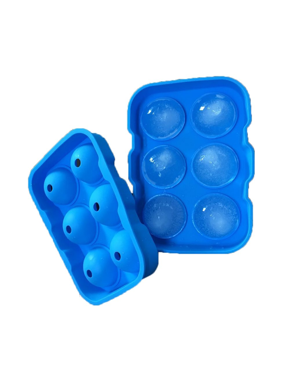 Silicone Sphere Whiskey Ice Ball Maker with Lids /& Large Square Ice Cube Molds for Cocktails /& Bourbon 6 Cube Ice Cube Trays KOSMOO Reusable /& BPA Free