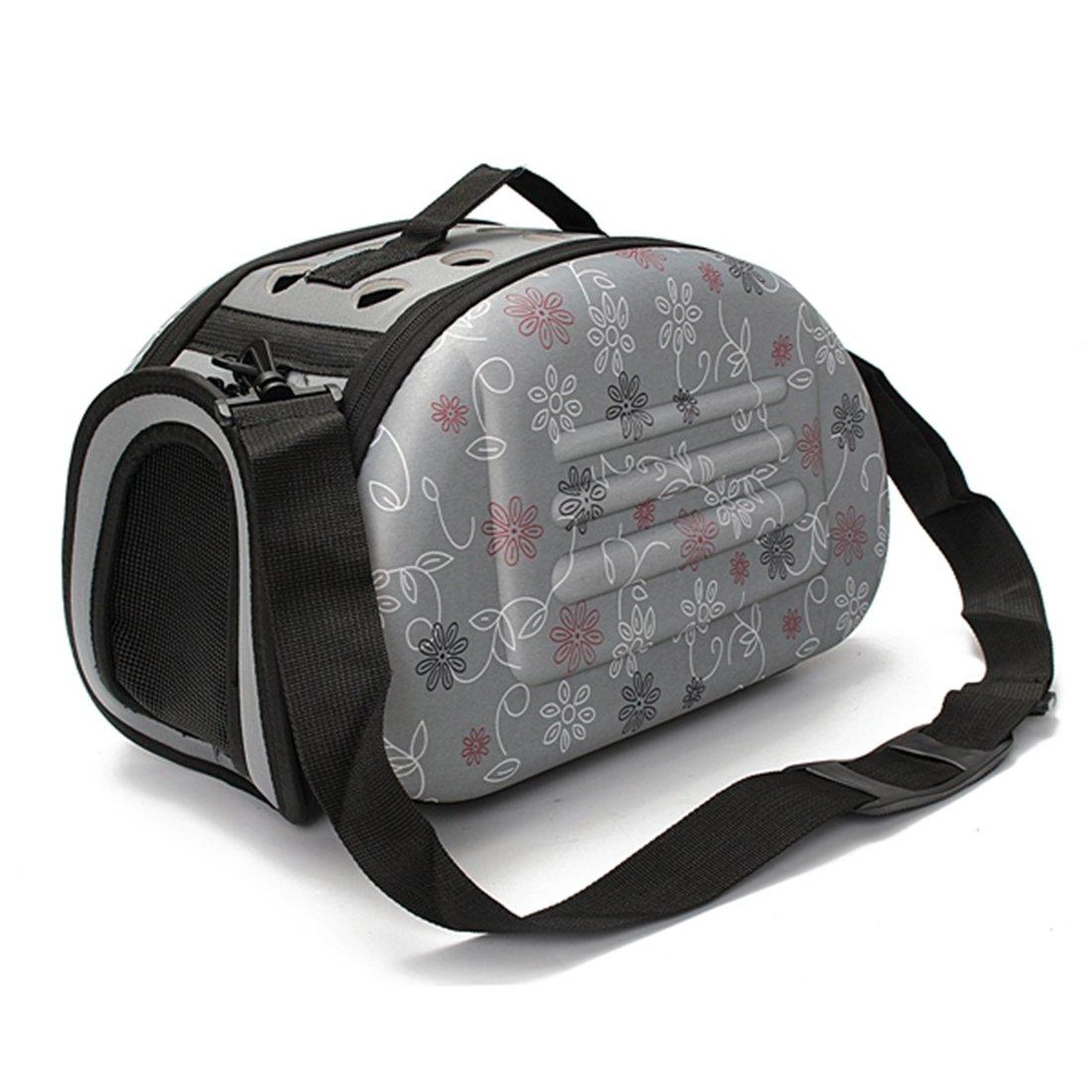 Corner Biz Pet Portable Small Pet Dog Cat Sided Carrier Travel Tote Shoulder Bag Cage House Color Grey