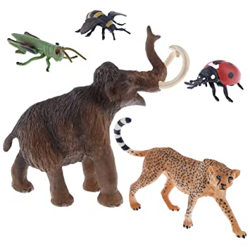 Magideal 5 Pedazos Modelo De Figuras Realistas De Animales Juguete
