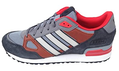 766357217b85f Image Unavailable. Image not available for. Colour  Adidas Mens ZX 750  Trainers Grey Brown Orange 11uk