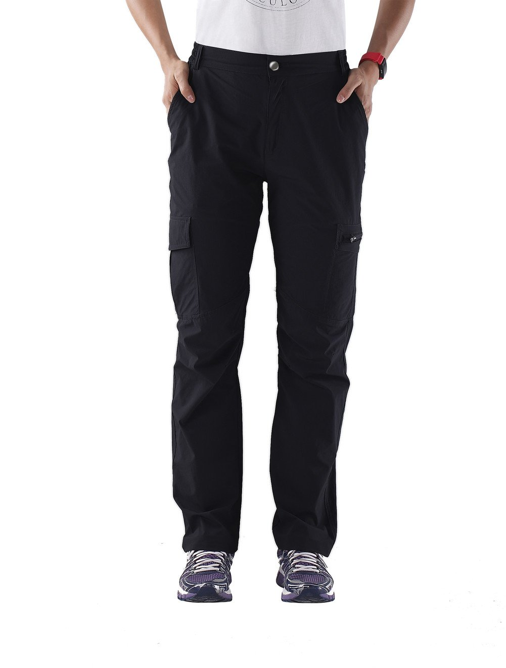 Nonwe Women's Outdoor Quick Drying Water-Resistant Cargo Pants Black XL/29 Inseam by Nonwe