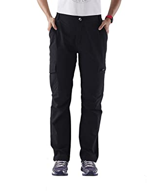 Nonwe Women's Quick Dry Cargo Pants Black XS/29 Inseam