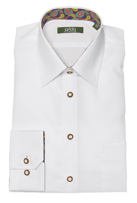 arido Trachtenhemd Herren langarm 2735 255 30 weiß 30