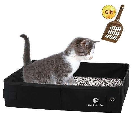 Petacc Plegable Caja de Arena para Gatos Impermeable para Mascotas Caja de Arena Caja de Arena