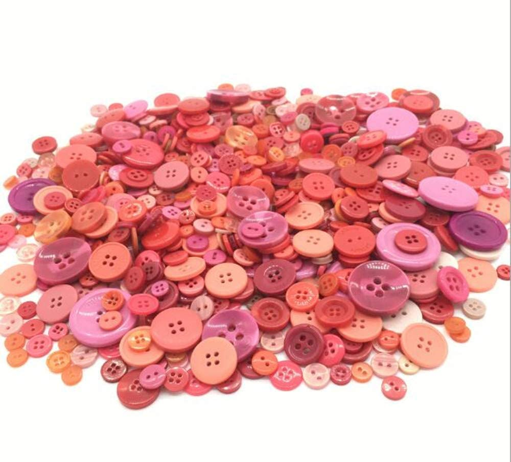 100pcs 2 hole Red Resin Buttons Sewing Scrapbooking Handwork Home Decor 9mm