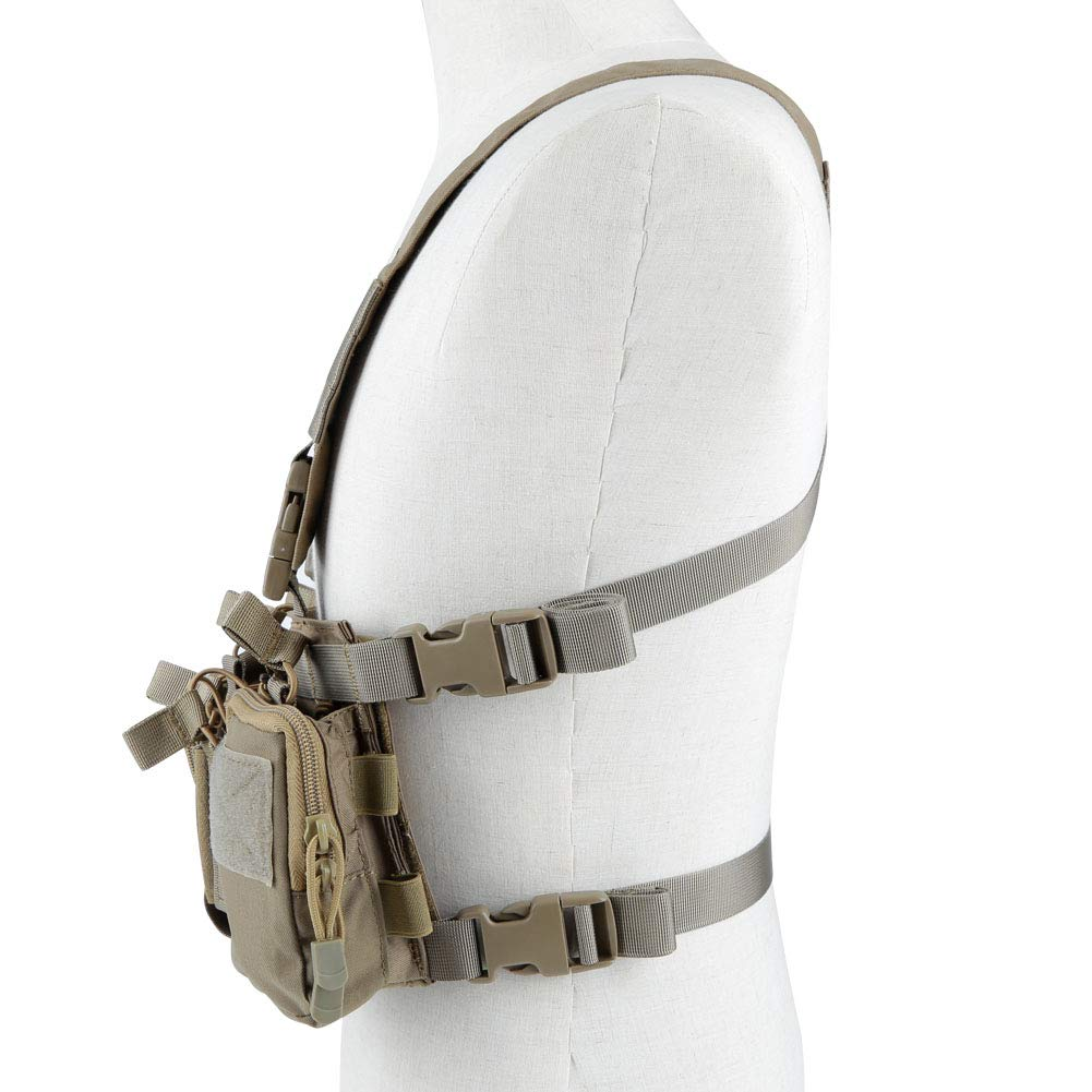XUE Taktische Weste Recon Chest Rig f/ür Herren Damen mit 5,56 9mm Magazine Taschen Tactical MOLLE Weste f/ür Airsoft Paintball Armee Polizei Milit/är Jagd Kampf