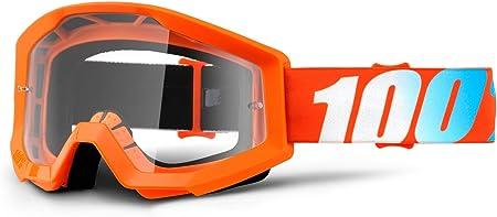 Motocross Brille Crossbrille Orange Klar 100 Strata Orange Brille Goggle Motocross Quad Atv Mx Sx Cross Mtb Offroad Amazon De Auto