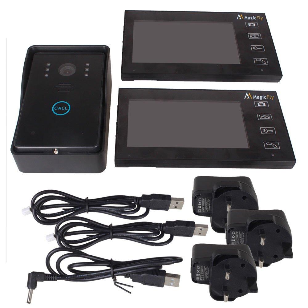 Magicfly Wireless Video Door Phone Intercom Doorbell Home Security 1-camera 2-monitor by Magicfly (Image #3)