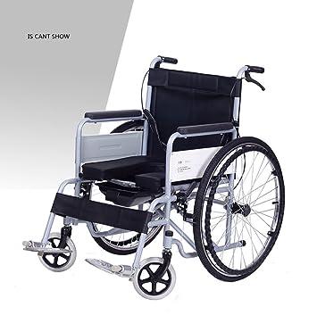 T-silla de ruedas Silla de ruedas multifuncional, plegable, inodoro, portátil, bicicleta plegable de múltiples funciones: Amazon.es: Salud y cuidado ...