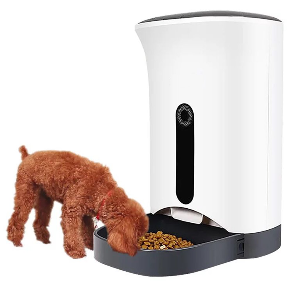 Pevor Automatic Pet Feeder - LCD Display Medium Food Dispenser Controlled by IPhone, Android or Other Smart Devices For Cats & Small To Medium Size Dogs