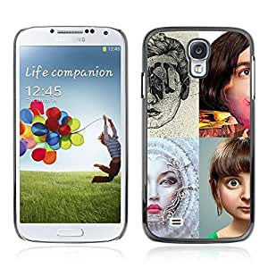 Colorful Printed Hard Protective Back Case Cover Shell Skin for Samsung Galaxy S4 IV (I9500 / I9505 / I9505G) / SGH-i337 ( POP Art Photo )