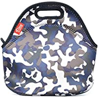 Neoprene Lunch Tote, Yookeehome Insulated Thermal Reusable Lunch Bag Box for Boys Men with Zipper, Camouflage