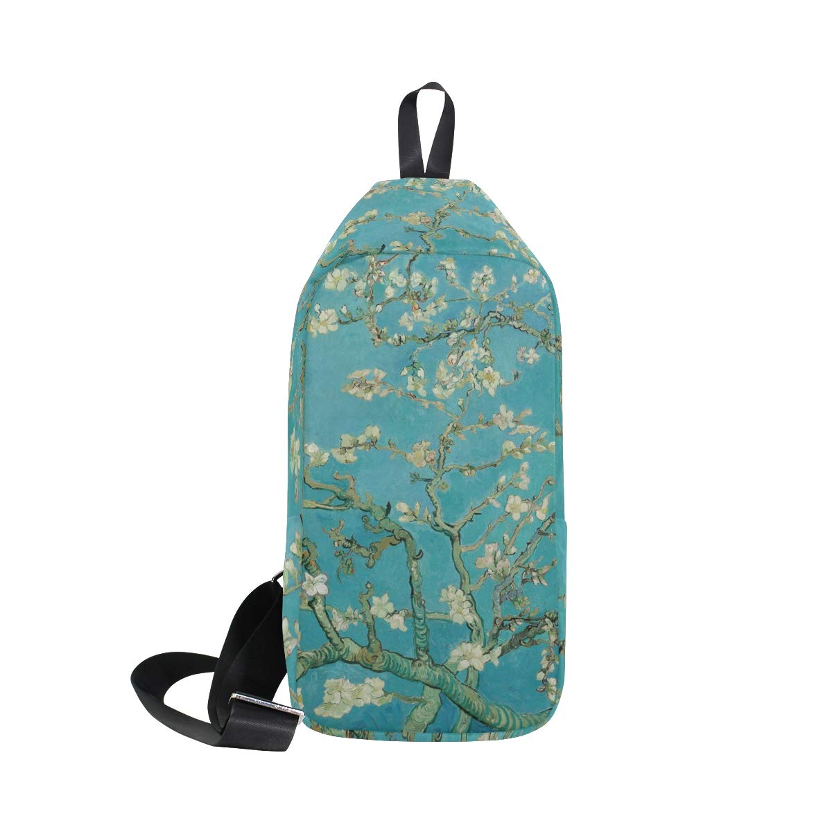 AHOMY Van Gogh Branches Of Almond Tree In Blossom Messenger Bag Small Travel School Sling Bag Crossbody Bag