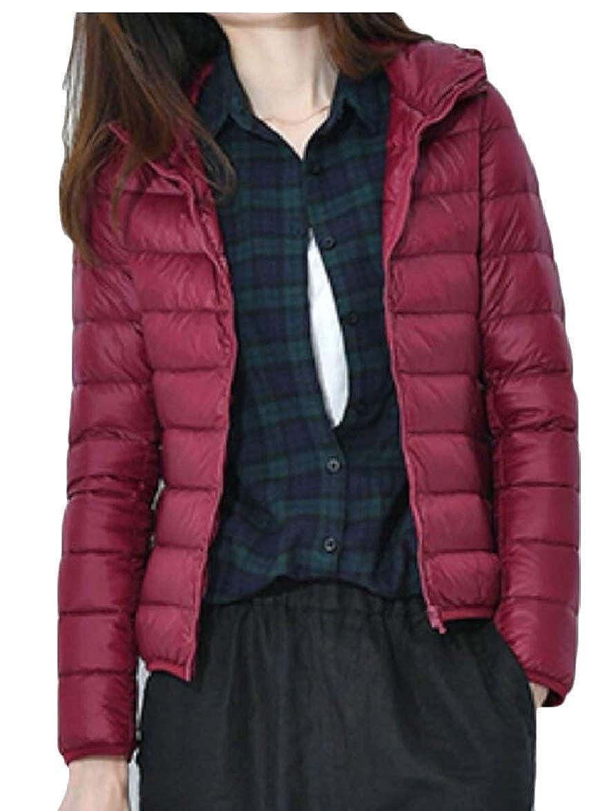 3 LEISHOP Women Lightweight Packable Down Jacket Hooded Insulated Coat