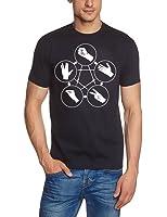 Coole-Fun-T-Shirts Herren T-Shirt Big Bang Theory - Stein Schere Papier Echse Spock