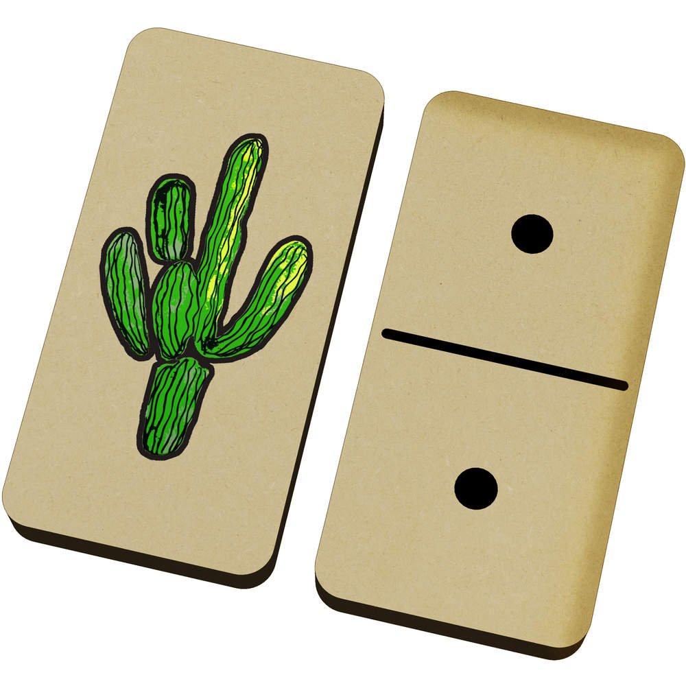 Azeeda \'Desert Cactus\' Domino Set & Box (DM00018126)