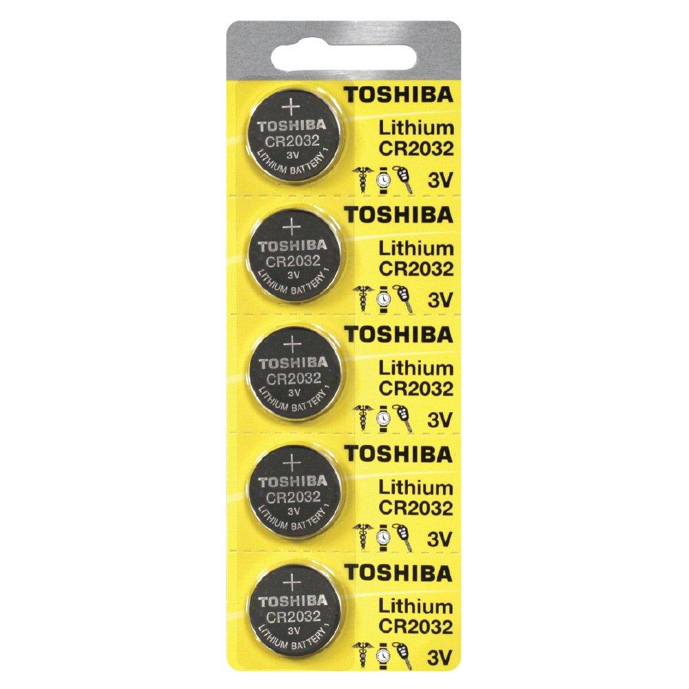 Toshiba CR2032 3 Volt Lithium Coin Battery 500 pcs