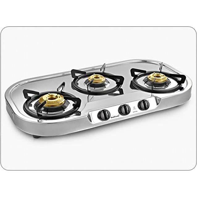 Sunflame Optra 3 Burner Gas Stove Induction Cooktops at amazon