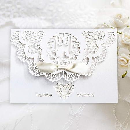 Tarjetas De Invitaciones De Boda Benbilry 20 X Elegantes