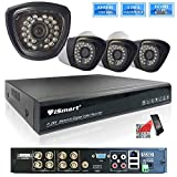 iSmart 8 Channel 720P HDMI AHD DVR HVR NVR 3 in 1 Security System including 4 1200TVL 1.0MP Waterproof Bullet Surveillance Camera with 27 IR Leds Night Vision Up to 80ft Smart Phone Remote View