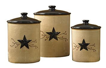 Park Designs Star Vine Canisters Set Of 3 Multicolor
