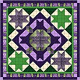 Easy Quilt Kit Celtic Star/Purple/Green Queen