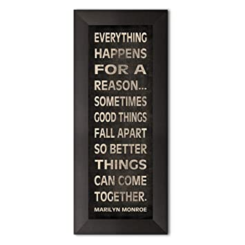 Amazoncom Gango Home Décor Everything Happens For A Reason Marilyn