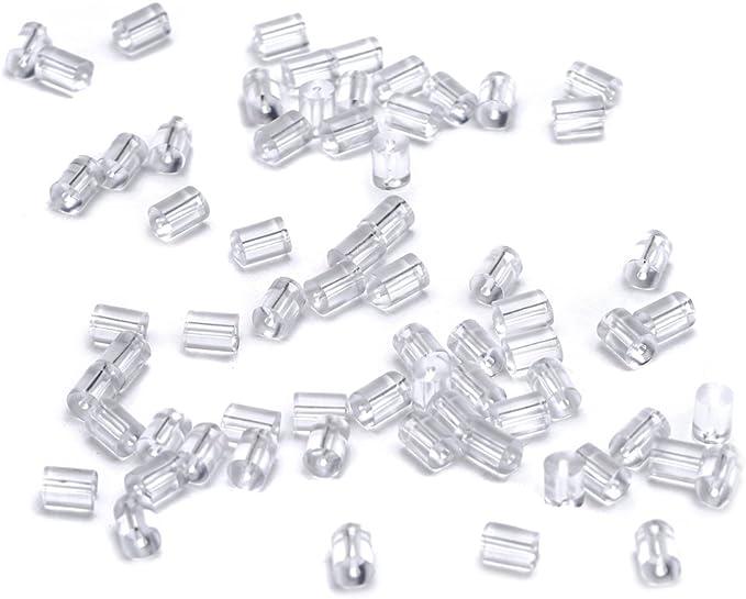Waymeduo Ohrring-Stopper 50 St/ück pro Paket Ohrstecker-Verschluss