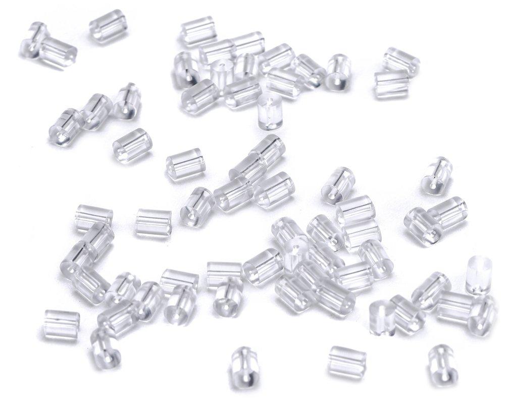 transparent Beads Unlimited Kunststoff Ohrring Stopper 200/St/ück