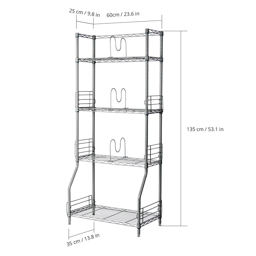 Amazon.com: LANGRIA 4 Tier Wire Shelving Commercial Storage Rack for ...