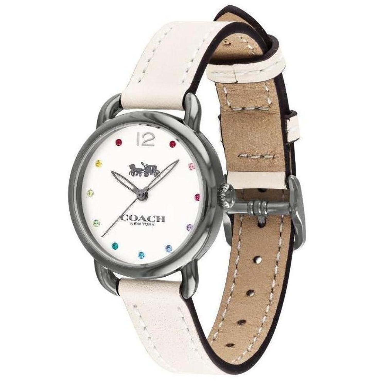 5de8e86a7c6a Coach 19998 Womans delancy B001UJPYT2 reloj correa de cuero blanco 14502915  de - e10b972